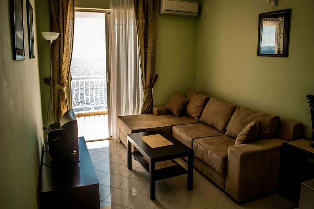 Štandardný apartmán, 1 spálňa, výhľad na more - Obývačka