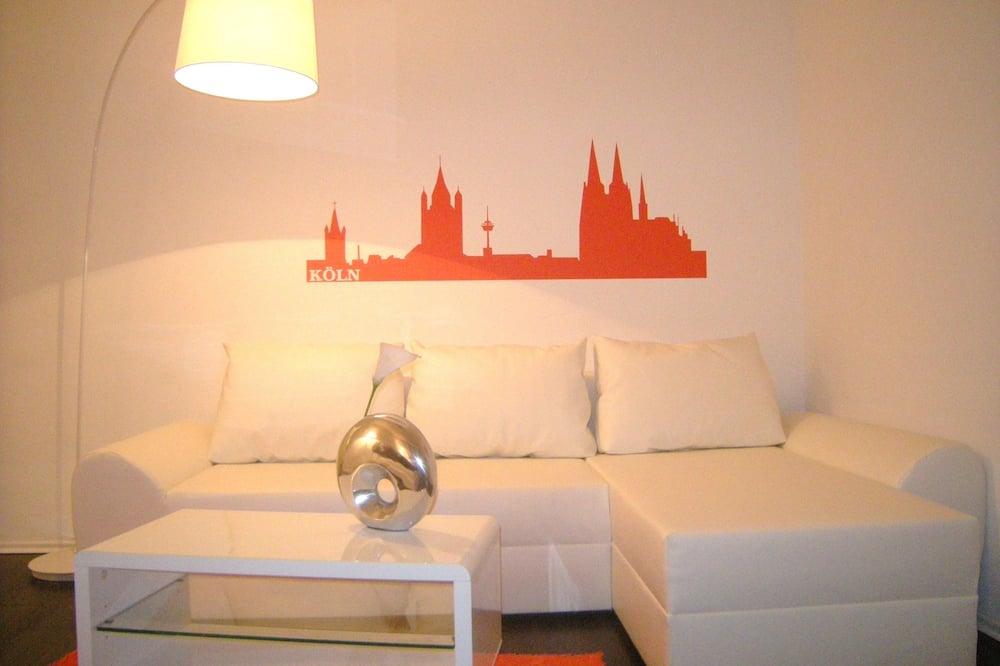 Standard-Apartment, 1Einzelbett, Kochnische - Wohnbereich