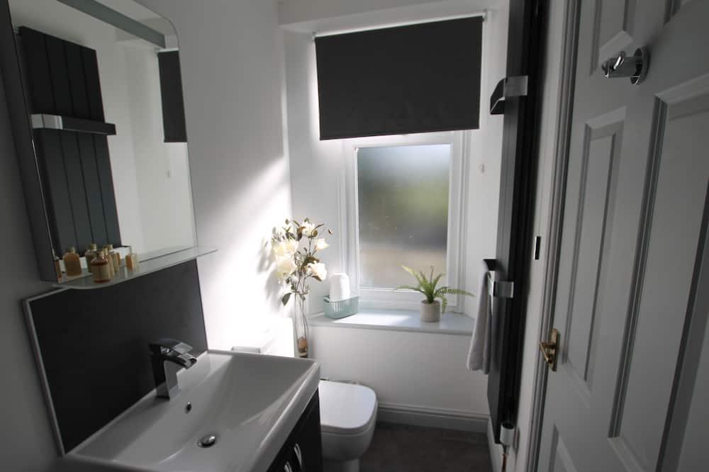 Улучшенный двухместный номер с 1 двуспальной кроватью, смежные ванная комната и спальня (Leven) - Ванная комната