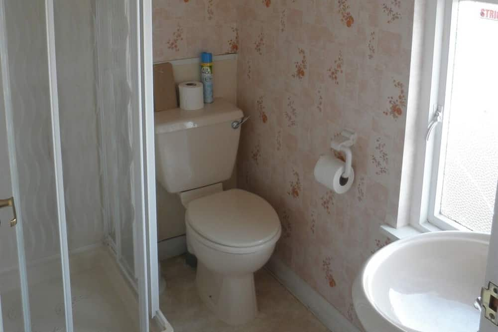 Einzelzimmer, 1Einzelbett, mit Bad - Badezimmer