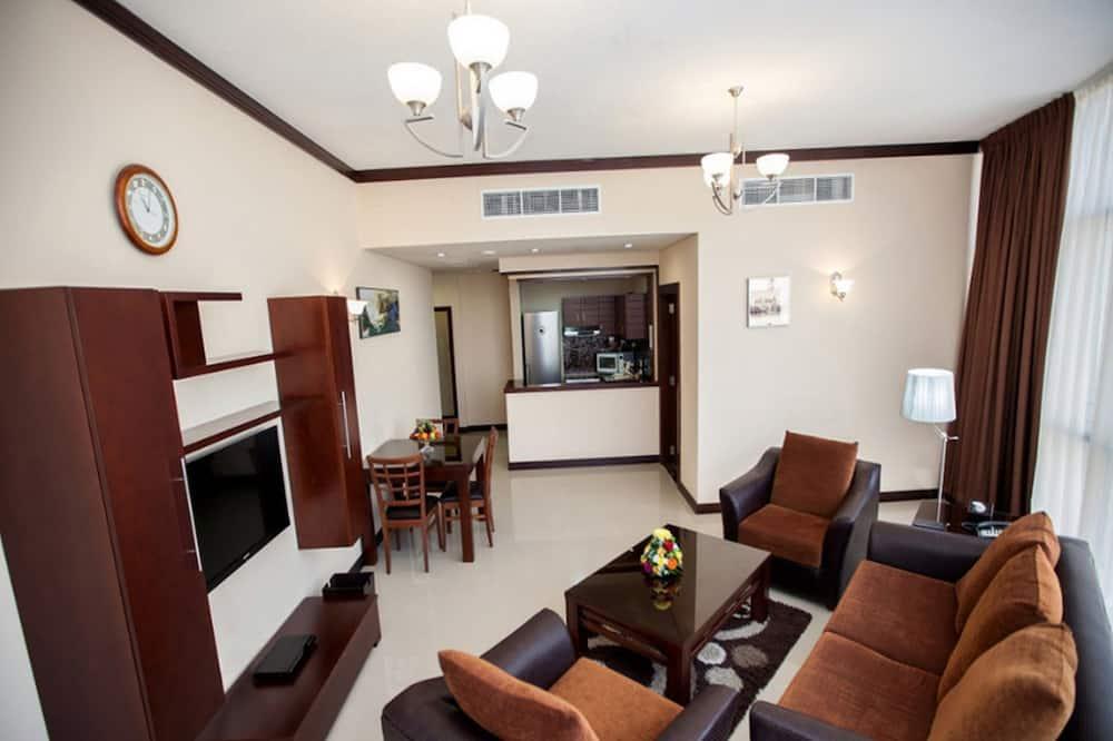Executive-Zweibettzimmer, 1 Schlafzimmer - Wohnzimmer