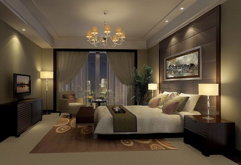 Shanghai Shahai International Hotel, Shanghai, Deluxe Suite, 1 King Bed, City View, Guest Room