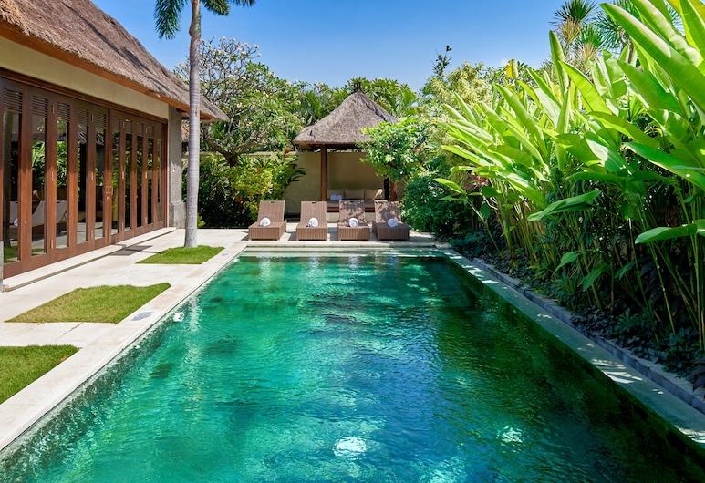 瑪哈吉瑞薩努爾別墅酒店, 登巴薩, 奢華別墅, 3 間臥室, 私人泳池, 園景