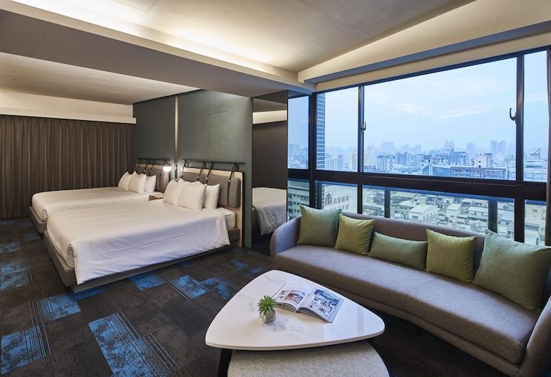 Kung Shang Design Hotel, Kaohsiung, Rodinná izba, Výhľad z hosťovskej izby