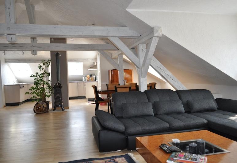 Baden-Baden Du Russel Suites, Baden-Baden, Standard-Apartment, 2Schlafzimmer (Du Russel Suite B), Wohnzimmer
