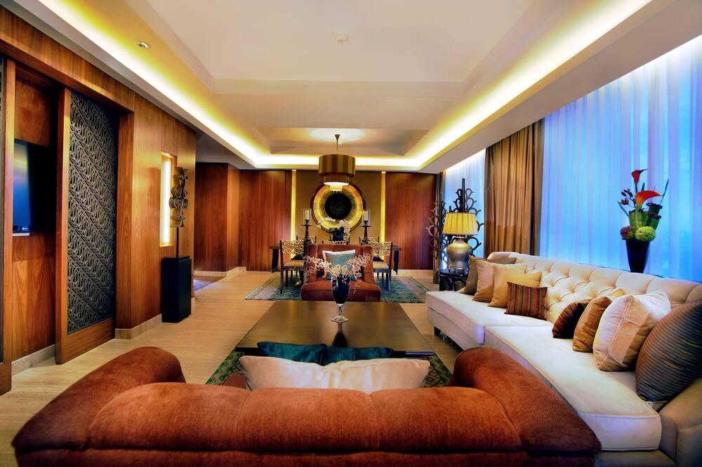 Suite presidencial, 1 cama de matrimonio grande - Sala de estar