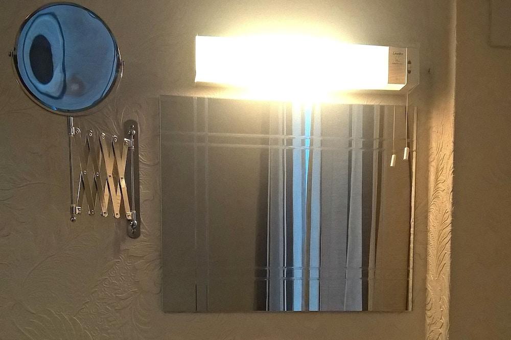 Familieværelse - fælles badeværelse - Vask på badeværelset