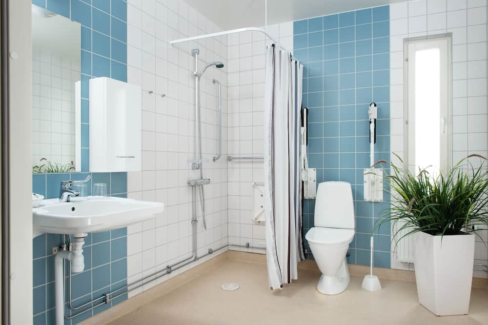 Einzelzimmer (Kitchenette) - Badezimmer