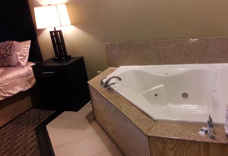 Americas Best Value Inn & Suites Port Arthur, Port Arthur, Room, 1 King Bed, Non Smoking, Jetted Tub, Deep Soaking Bathtub