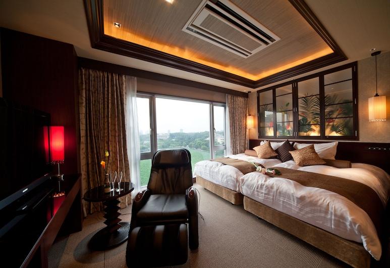 Hotel Coco Grand Ueno Shinobazu, Τόκιο, Δίκλινο Δωμάτιο (Twin), Θέα στο Πάρκο (Panorama), Δωμάτιο επισκεπτών