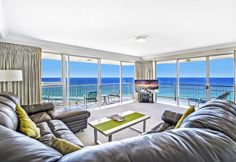 Talisman Apartments, Broadbeach, Apartamento, 1 habitación, vistas al mar, Zona de estar