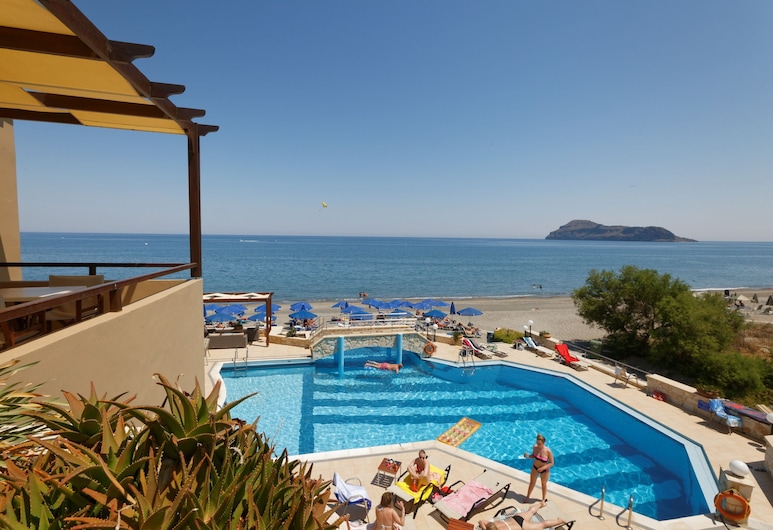 Indigo Mare Hotel Apartments, Platanias, Apartament, 1 sypialnia, widok na morze, Z widokiem na balkon