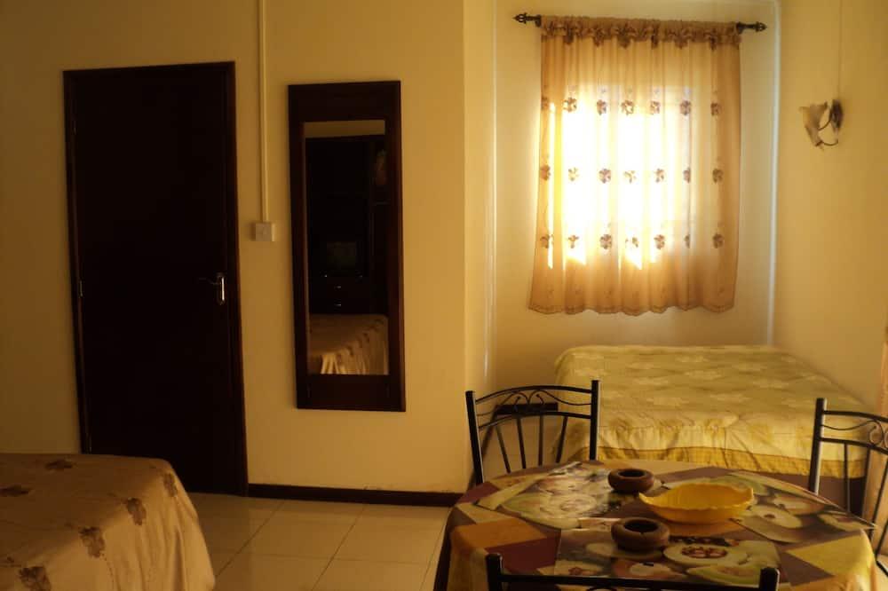 Studija su patogumais, iš miegamojo pasiekiamas vonios kambarys - Svetainė