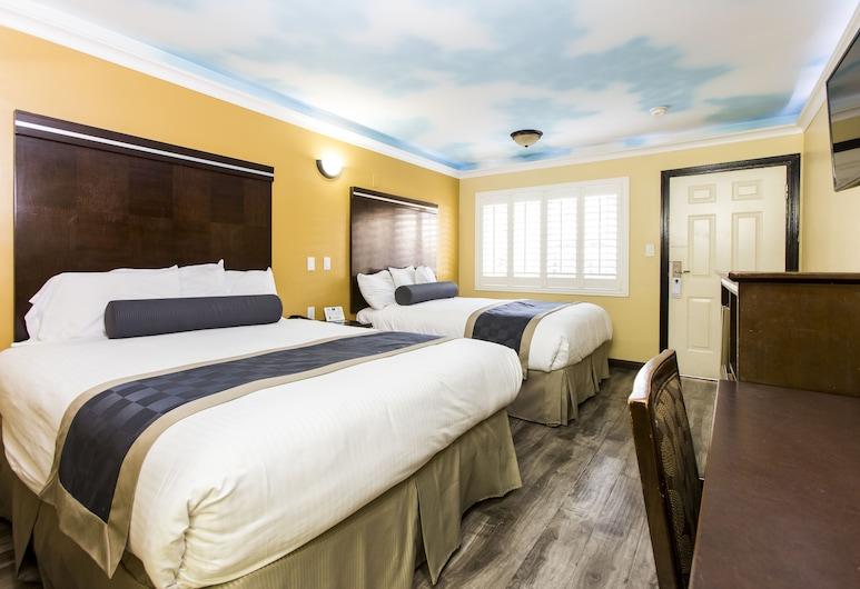 Hollywood Palms Inn and Suites, Los Angeles, Štandardná izba, 2 veľké dvojlôžka, fajčiarska izba, Hosťovská izba