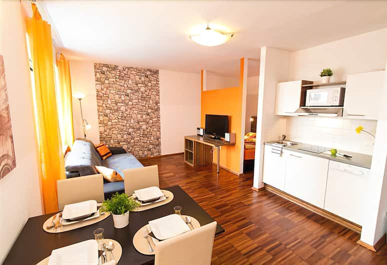 Royal Living Apartments, Viena, Apartamento, 1 cama Queen com sofá-cama, Quarto
