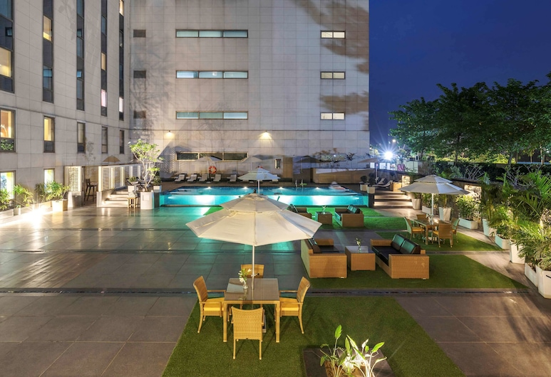 ibis New Delhi Aerocity Hotel, New Delhi, Standaard Twin kamer, 2 eenpersoonsbedden, Uitzicht vanaf kamer