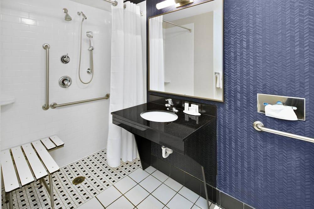 룸, 킹사이즈침대 1개, 금연 - 욕실