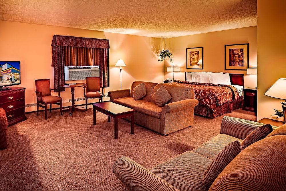 Apartmá typu Deluxe, dvojlůžko (200 cm) a rozkládací pohovka - Pokoj