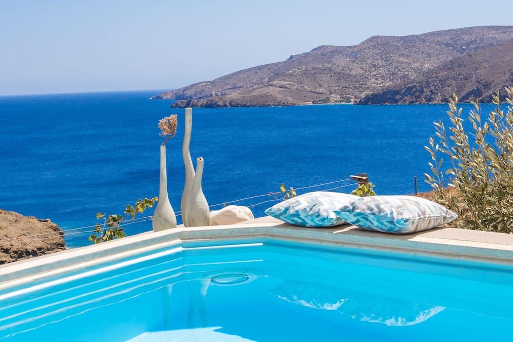 Suite Lune de Miel, 1 chambre, piscine privée, vue mer (Egeo) - Bain à remous