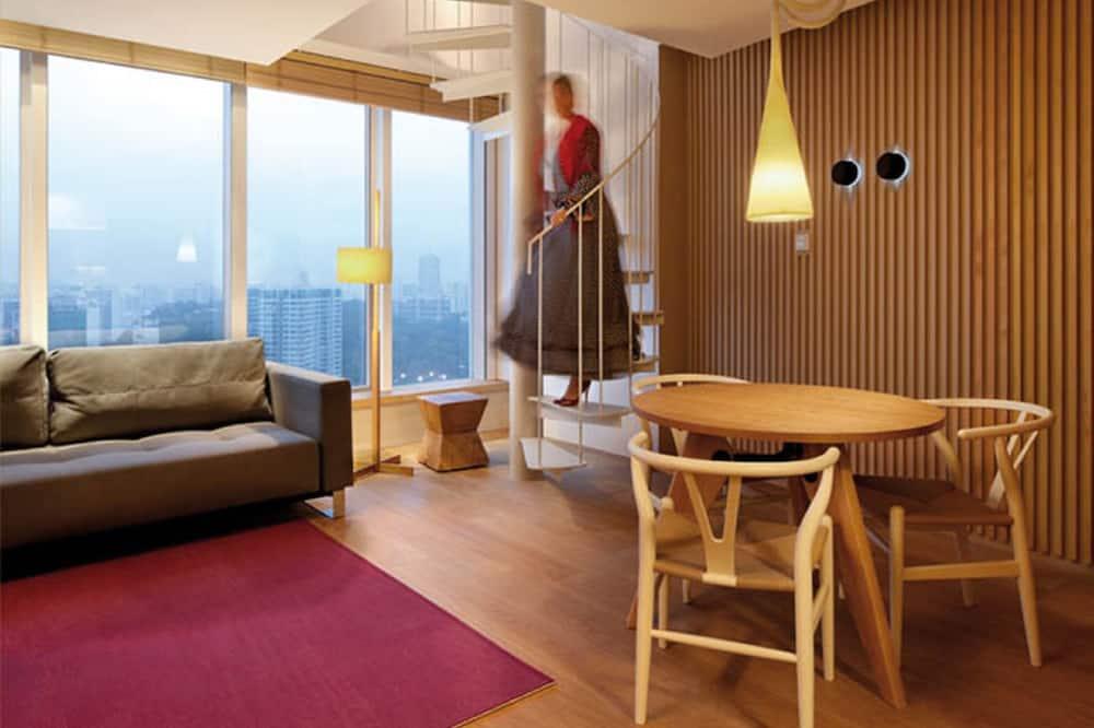 頂樓客房, 1 張特大雙人床 - 客廳