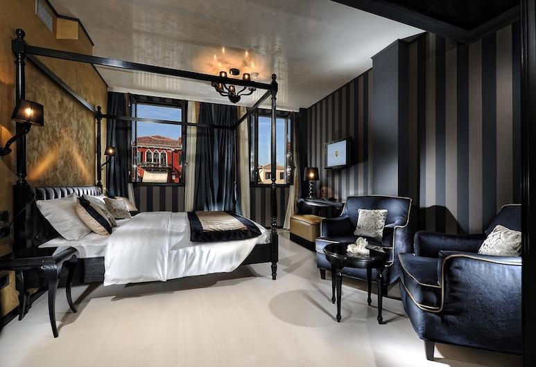 Carnival Palace Hotel, Venecija, Numeris, vaizdas į kanalą, Svečių kambarys