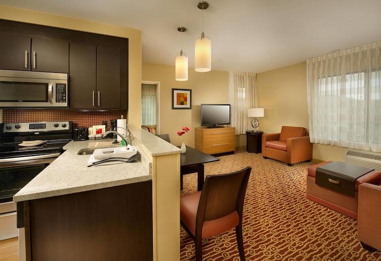 TownePlace Suites Bridgeport Clarksburg, ברידג'פורט, סטודיו, 2 מיטות קווין, ללא עישון, מטבח בחדר