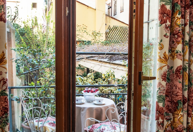 아글리 알보레티, 베네치아, 주니어 스위트, 테라스, 정원 전망, 발코니