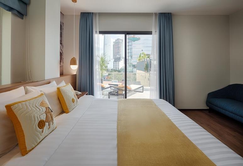 Little Saigon Boutique Hotel, Ho Chi Minh-Stad, Junior suite, 1 queensize bed, Uitzicht op de stad, Kamer