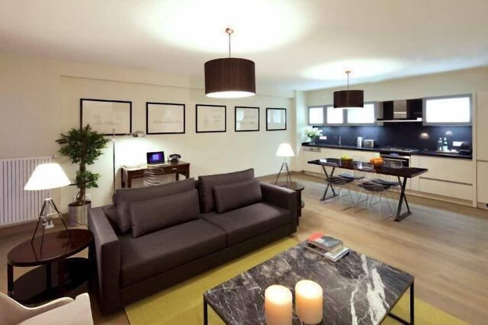 Deluxe Apartment, Balcony - Living Room