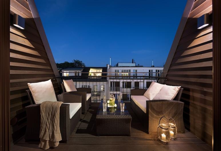 柏林弗里德里希斯海因盧索伊瑟公寓酒店, 柏林, Keyless Easy Entry 24/7 - Deluxe 2 Bedroom Apartment, 露台
