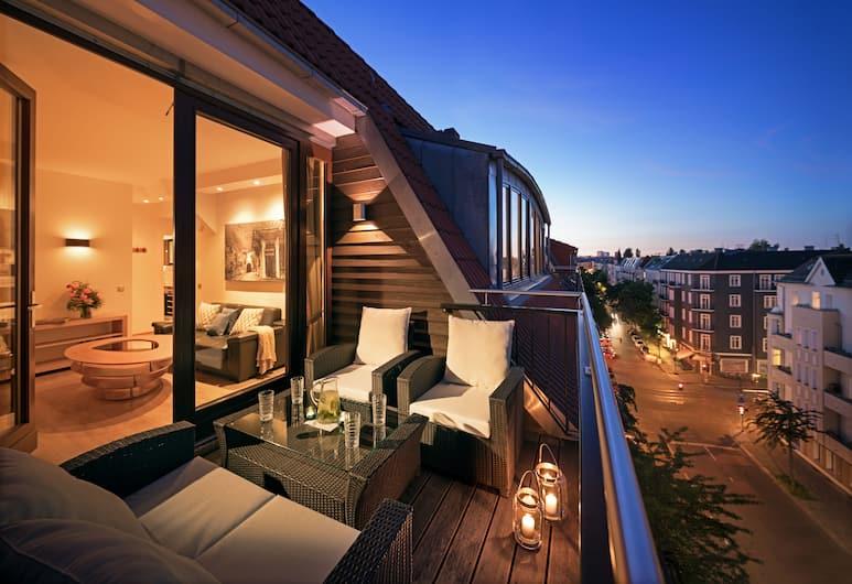 Luxoise Apartments Berlin Friedrichshain, Berlín, Apartmán typu Deluxe, 2 spálne, balkón, Výhľad z balkóna