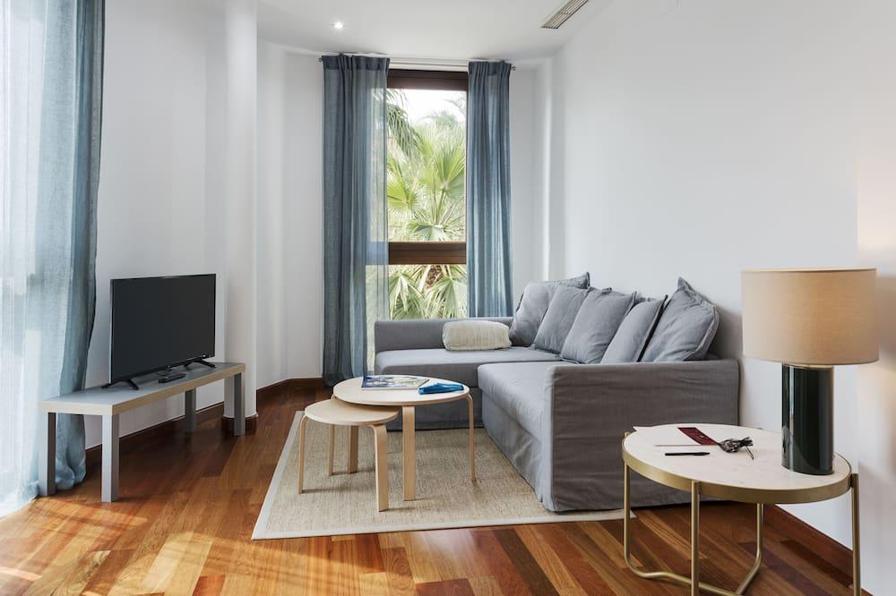 高級公寓, 1 間臥室 - 客廳