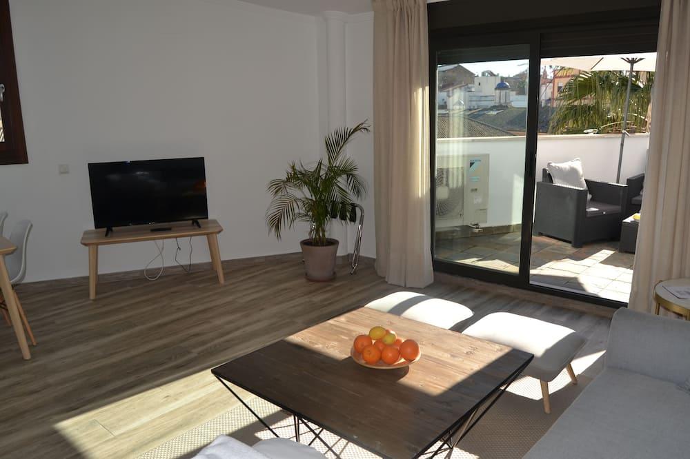 公寓, 1 間臥室, 露台 (Penthouse) - 客廳