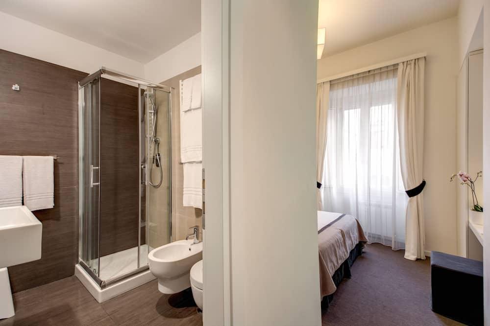 Tweepersoonskamer, voor 1 persoon - Badkamer