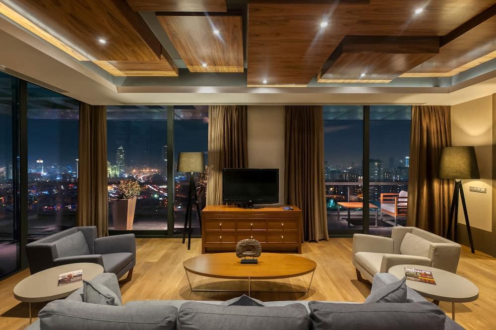 Prezidenta luksusa numurs, terase, skats uz pilsētu - Dzīvojamā zona