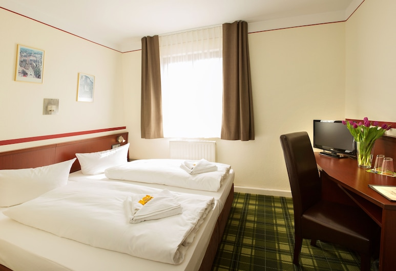 Hotel Weiße Elster, Zeitz, Chambre Confort Double ou avec lits jumeaux, salle de bains privée, Chambre
