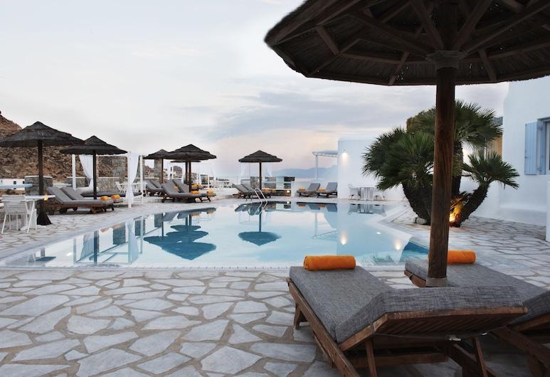 Paradise View Hotel, Mykonos, Pool