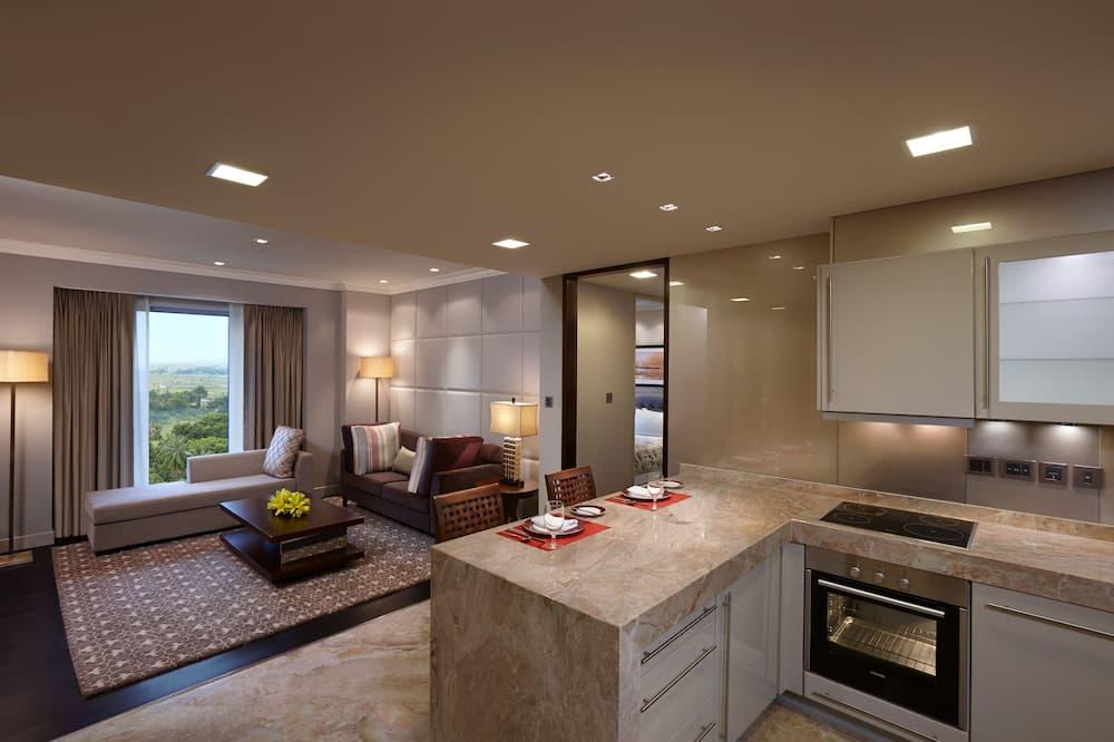 アパートメント 2 ベッドルーム (Serviced) - リビング エリア