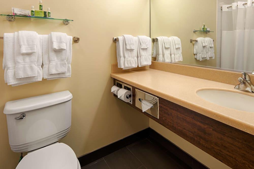 Standardní pokoj, 2 dvojlůžka (180 cm), nekuřácký, lednička a mikrovlnná trouba - Koupelna