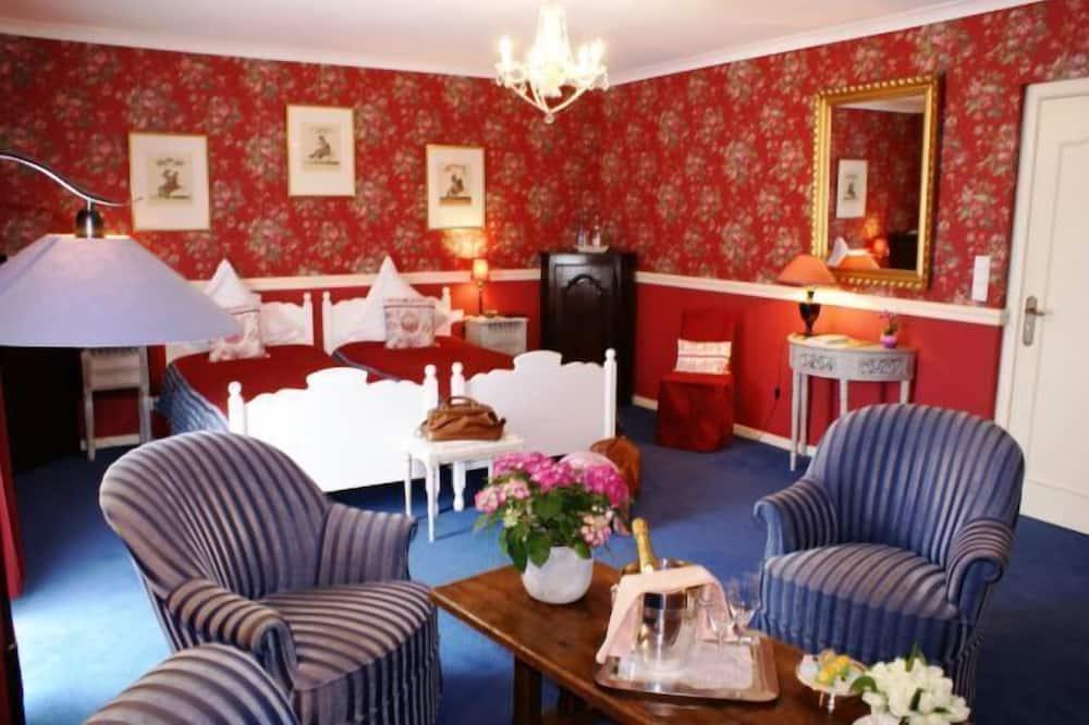 Deluxe-Doppelzimmer, Gartenblick - Wohnbereich