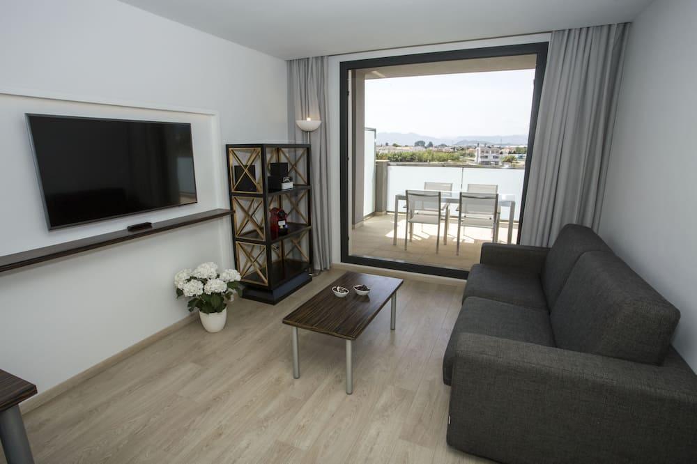 高級公寓, 1 間臥室 (2 Adults + 2 Children) - 客廳