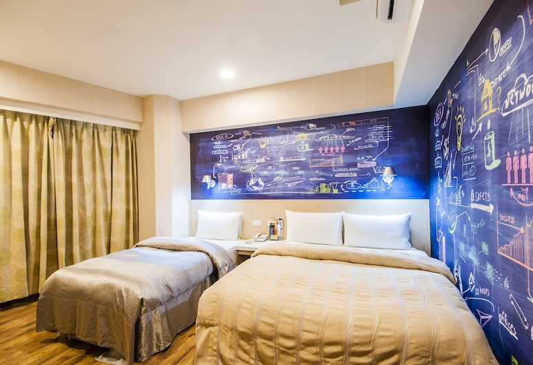 Sanduo Hotel, Kaohsiung, Trippelrum, Gästrum