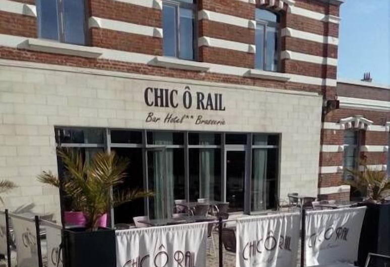 Hôtel Le Chic Ô Rail, Saint-Omer, Terraza o patio