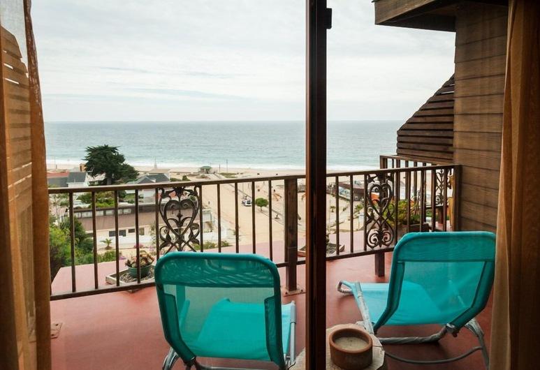 Cinque Colori, Algarrobo, Habitación familiar con 1 cama doble o 2 individuales, 1 cama King size, vista al mar, frente al mar, Balcón
