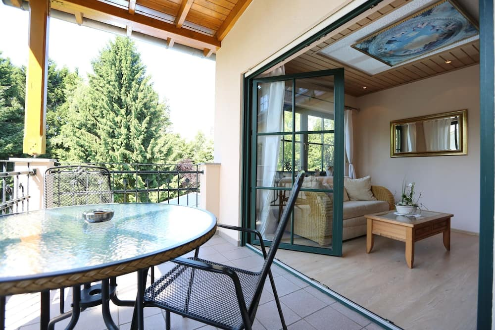 Junior-Suite, Balkon, Gartenblick - Balkon