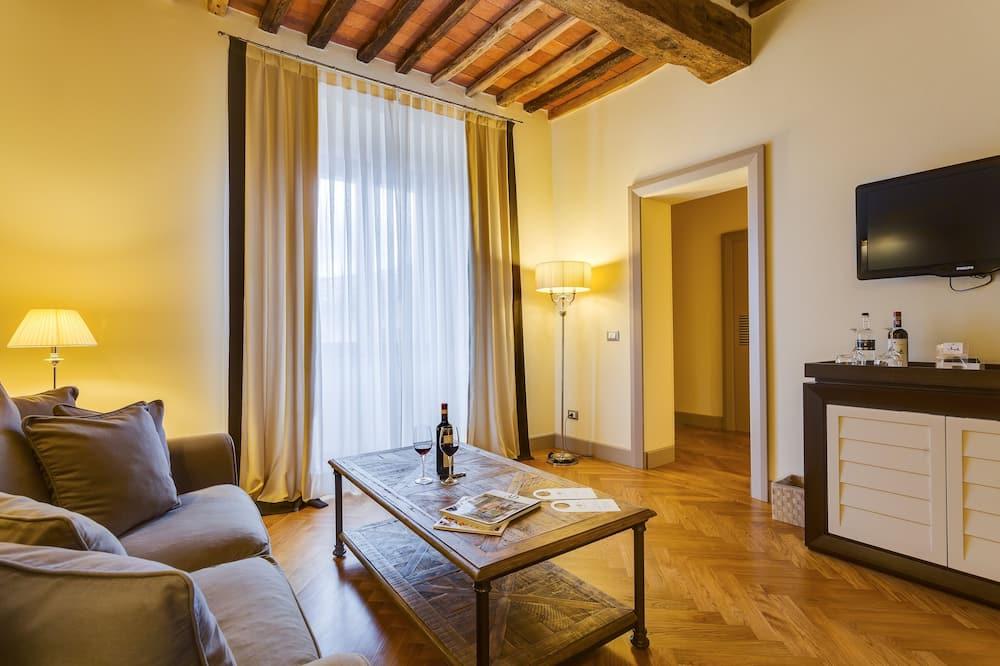 Superior-Doppelzimmer (Castello La Leccia) - Wohnzimmer
