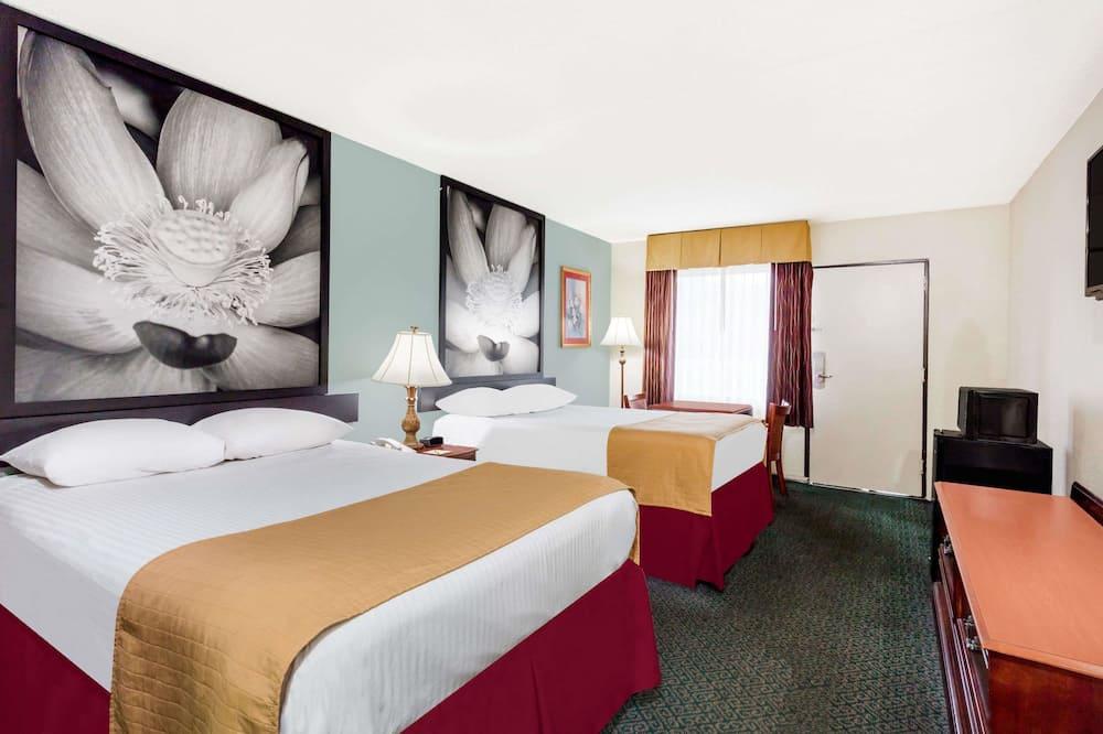 חדר סטנדרט, 2 מיטות זוגיות, למעשנים - חדר אורחים