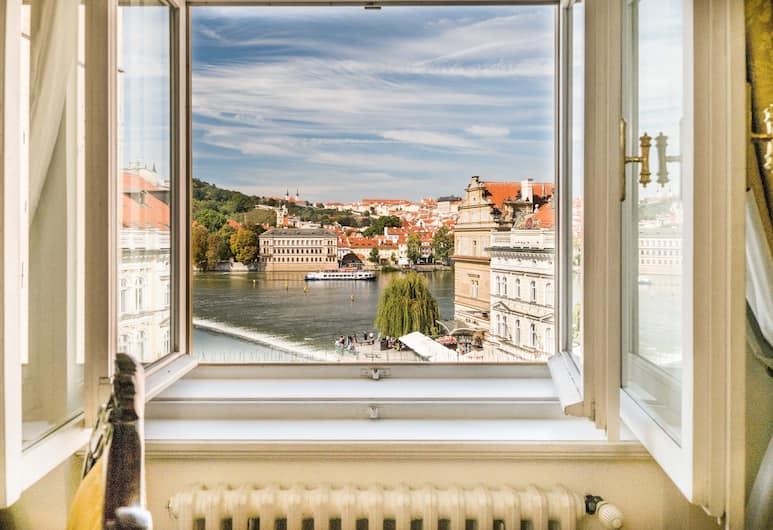 Charles Bridge Palace, Praga, Pokój dwuosobowy z 1 lub 2 łóżkami typu Superior, z łazienką, widok na rzekę