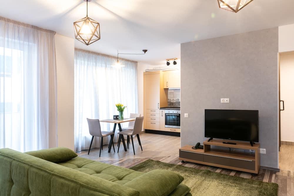 Apartment, 1 Bedroom, Terrace (Industrial) - Living Area