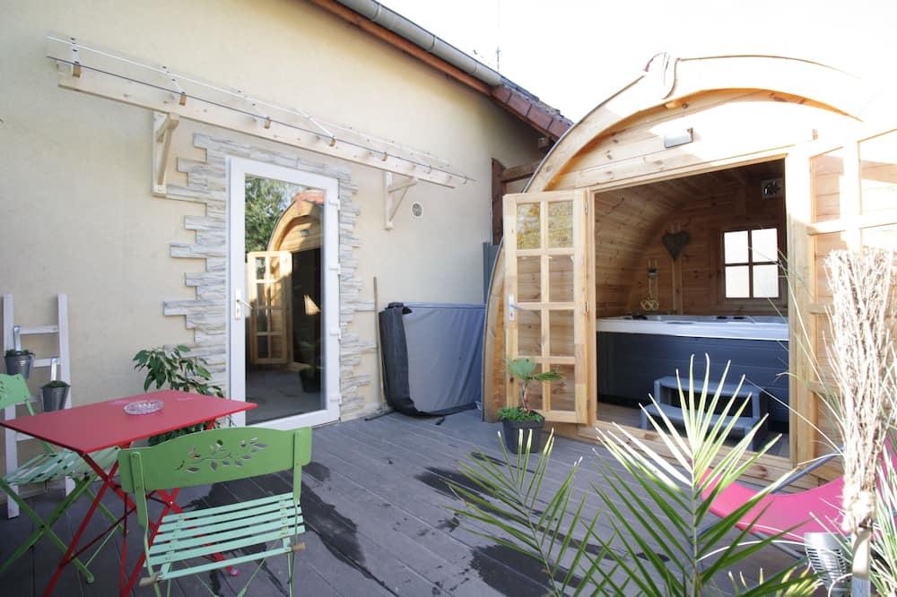 Apartmán, vlastná kúpeľňa (L'Igloo) - Výhľad z balkóna